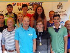 Die anwesende Altersklassensiegerriege der diesjährigen Intersport-Wagner-Trophy.